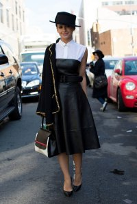 Miroslava-Duma-gave-sweetness-her-leather-dress-little
