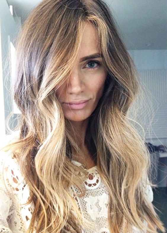 hair color trends balayage 2016 - Coloration Chocolat Caramel